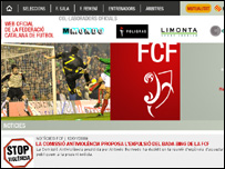 Sitio electr�nico de la Federaci�n Catalana de F�tbol