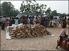 Camp for displaced people in northern Sri lanka
