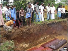 Coffins of Tamil people in Vavuniya