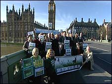 Campaigners at Westminster