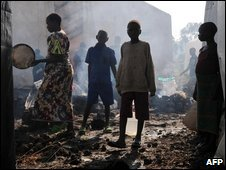 Refugee camp north of Goma on 19 January 2009