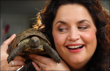 Ruth's tortoise Tom has also found fame after going missing from home