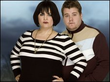 Gavin & Stacey: Ruth Jones as Nessa with James Corden as Smithy