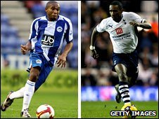 Wilson Palacios and Jermain Defoe