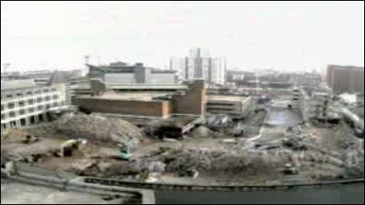 Web camera footage still of St. Davids 2 mid construction