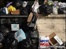 Rubbish spilling out of wheelie bins is Bristol