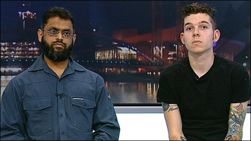 Moazzam Begg and Chris Arendt