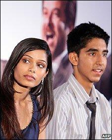 Slumdog Millionaire stars Freida Pinto and Dev Patel