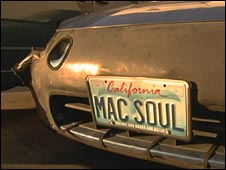 Mac soul licence plate