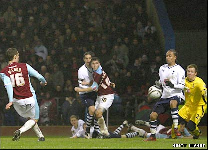 Burnley's Chris McCann scores his side's second goal