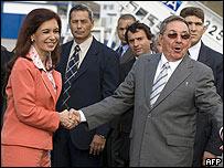 Fernández y Raúl Castro