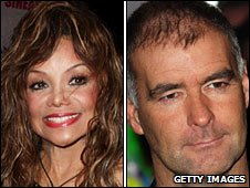 LaToya Jackson and Tommy Sheridan after being evicted from BB house