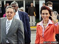 Raúl Castro y Cristina Fernández en La Habana
