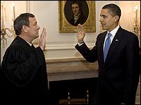 أوباما يؤدي القسم للمرة الثانية 21-01-2009