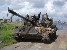 Sri Lankan army tank