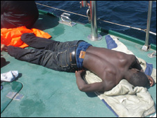 Immigrant rescued by Spanish patrol