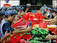 The production line of Dongguan Da Lang Wealthwise Plastic Factory in Dongguan, China