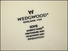 The Wedgwiid logo on a plate