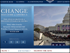 Screengrab of Whitehouse.gov website