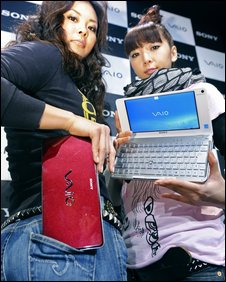 Models with Sony's Vaio P computer