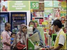 shoppers in hyper market in Petaling Jaya