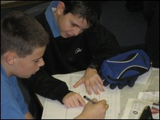School Reporters at Chantry High School and Sixth Form Centre, Ipswich, Suffolk