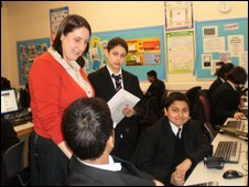 School Reporters at Brentside High School, Ealing, London