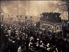 The joint funeral procession