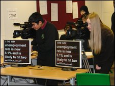 School Reporters at Nab Wood Community College, Bradford