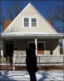 Boarded-up home,  Cleveland, Ohio