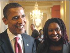 Barack Obama and Dawn Butler