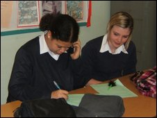 School Reporters at amilton Community College in Leicester