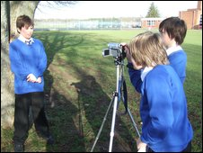 School Reporters at The Piggott School, Reading, Berkshire