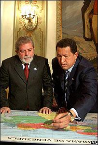 Hugo Chávez y Lula