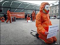 Protesta contra la prisión de Guantánamo en Suiza