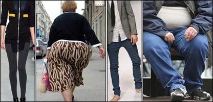 Gente obesa y gente delgada