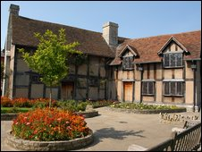 William Shakespeare's birthplace in Stratford-upon-Avon