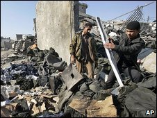 Scene in Gaza on 21 January 2009