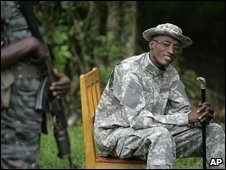 Gen Nkunda at his base in Tebero, 6 Nov 2008