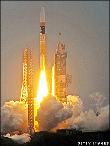 Jpanese H-IIA carrying the Gosat satellite into space (Getty Images)