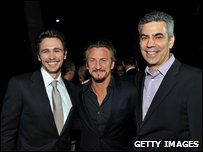 James Franco, Sean Penn and Michael London