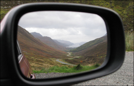 View through wing mirror