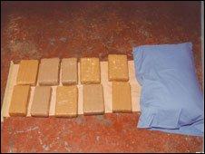 cocaine hidden in pillow