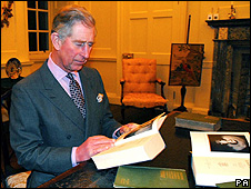 Prince Charles reads Burns' work in Dumfries House