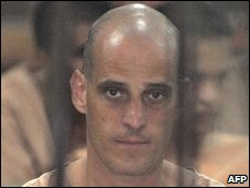 Harry Nicolaides in a Bangkok court cell on 19/1/09