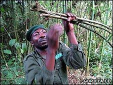 Ranger dismantling a snare (Image: Gorilla.cd)