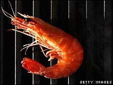 A king prawn cooking on a barbecue (Photo:Ian Waldie/Getty Images)