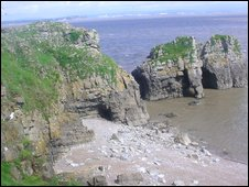Cliffs at Flat Holm