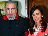 Fide Castro y Cristina Fernández