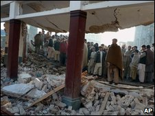 School destroyed by suspected Taleban militants in Swat